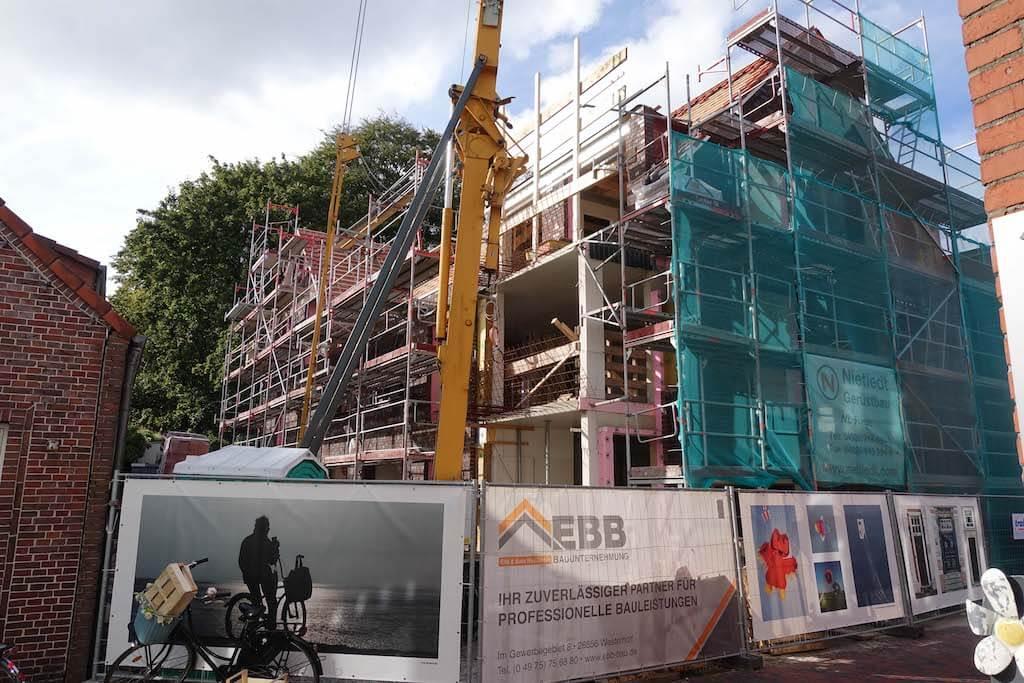 Eine Baustelle der EBB