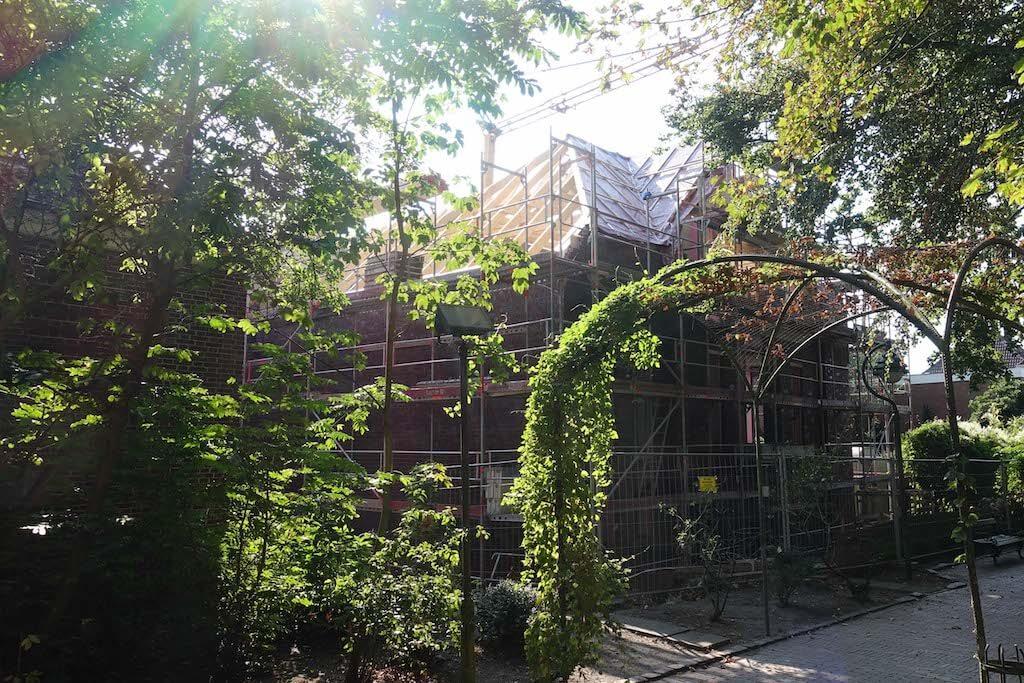 Eine Außenaufnahme der Baustelle in der Butterstraße