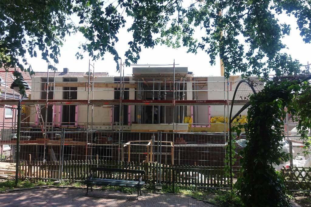 Bild einer Baustelle von Vorne