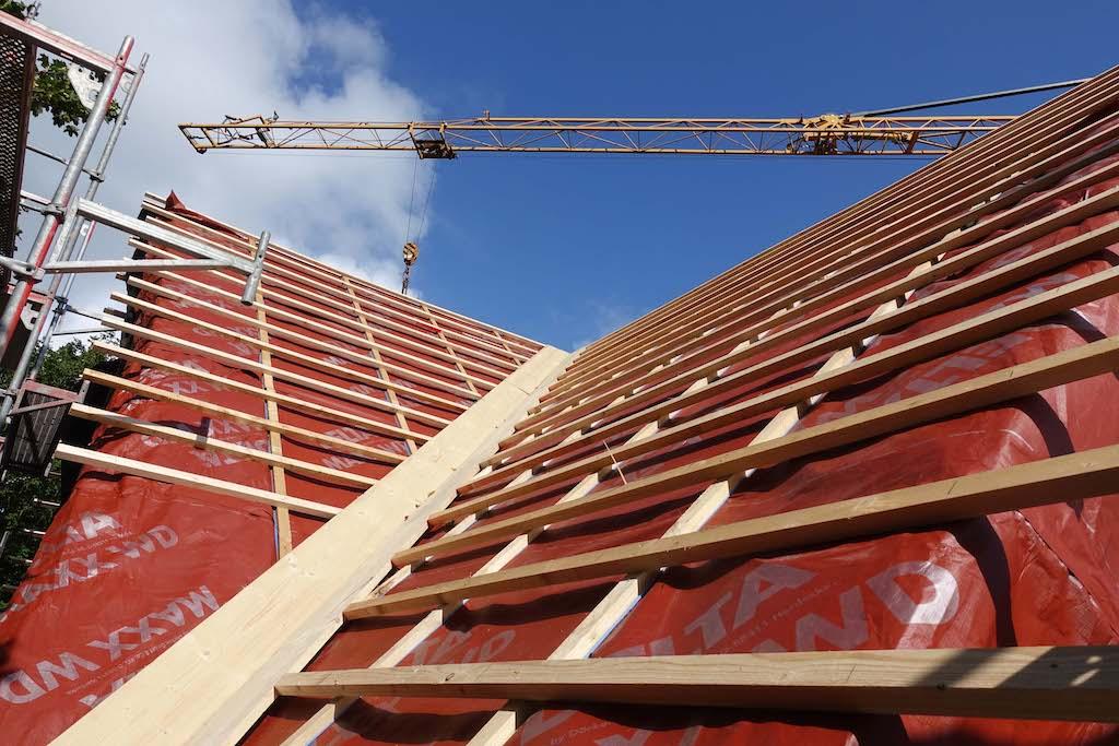 Dach einer Baustelle in der Butterstraße